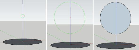 Vytvoření kruhu nad pomocný kruh