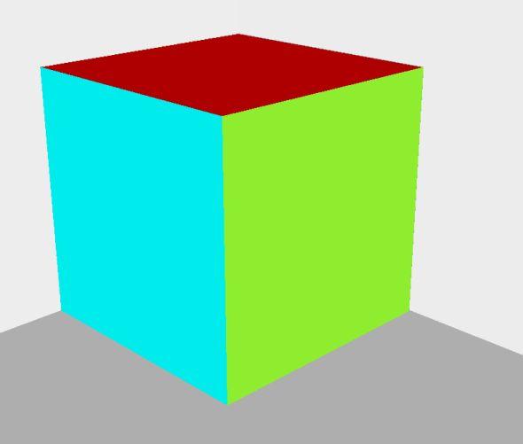 Obrázek modelu ze SketchUpu vypadá následovně.