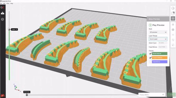 První náhled na grafické prostředí on-line služby GrabCAD Print. Obrázek: Youtube.com
