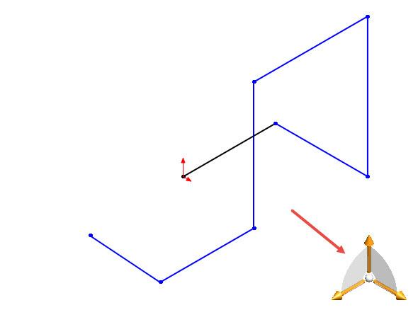 Vpravém dolním rohu se zobrazí triáda