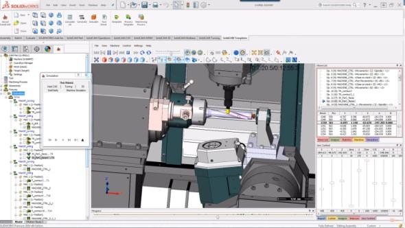 Pro spolehlivější odladění NC kódů nabízí italská společnost Roboris řešení Eureka Virtual Machining, které pomáhá analyzovat kolize již vprůběhu přípravy výroby.Obrázek: SolidCAM CZ