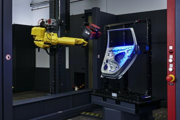Skenery Atos jsou používány v automobilovém průmyslu při kontrole plechových výlisků. Foto: MCAE Systems