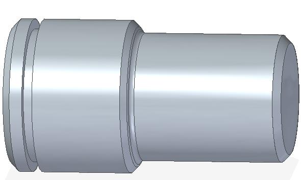 Vytvořená drážka pro pojistný kroužek funkcí Vyříznutí rotací