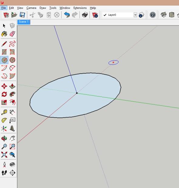 Nejprve je třeba vytvořit dvě kružnice