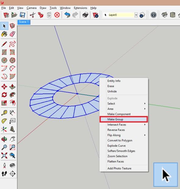 Dále vyberte všechny objekty a vytvořte znich skupinu