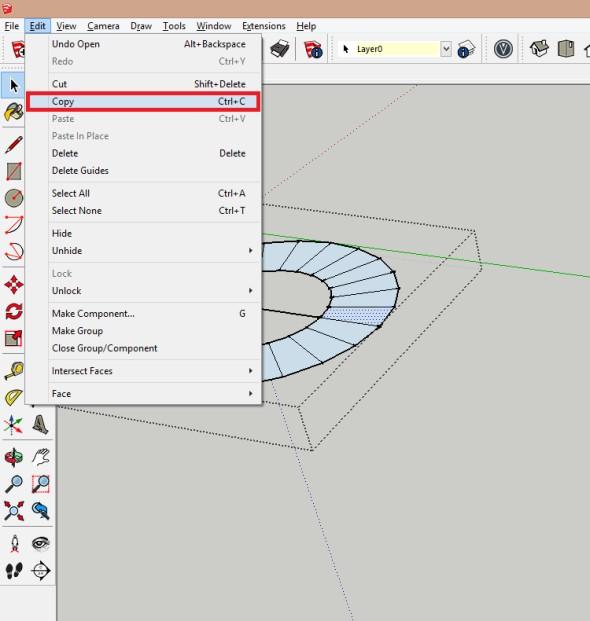 Editujte vytvořenou skupinu a kopírujte jeden vybraný element (Ctrl+C)