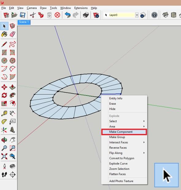 Klikněte na element pravým tlačítkem a znabídky vyberte Vytvořit komponentu (Make Component)