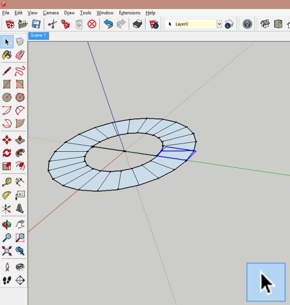 Editujte vytvořenou komponentu a použijte funkci Tlačit/táhnout (Push/Pull). Zadejte požadovanou výšku stupně (například 175 mm)