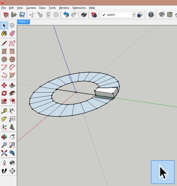 Vytvořenou komponentu dále překopírujte pomocí funkce Otočit.