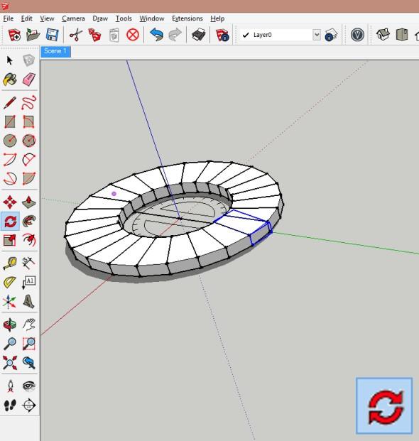 Bude vytvořen prstenec, který obsahuje počet prvků (komponent) dle zadaného úhlu dělení kruhu