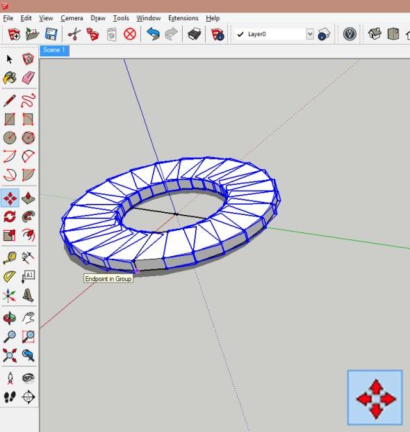 Zbývající komponenty pomocí funkce Přesunout/zkopírovat posuňte o výšku stupně nad nevybraný komponent