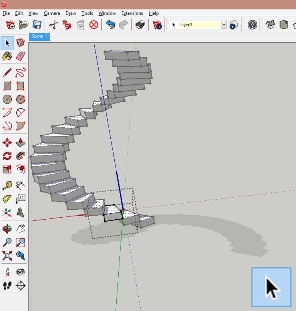 Díky tomu, že jsou stupně vytvořeny jako komponenty, stačí vždy editovat jen jeden stupeň
