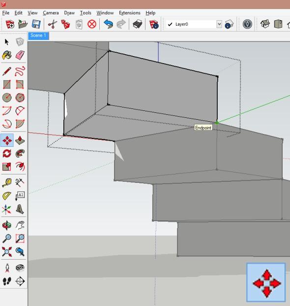 Dále je možné upravit spodní stranu stupně tak, aby na ní vznikla hladká plocha