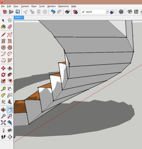 Vtuto chvíli tedy již je vytvořeno točité schodiště