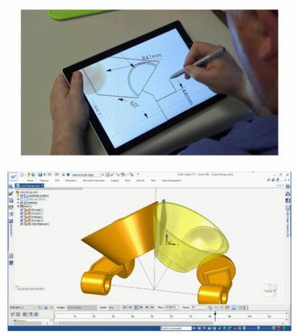 Převedení geometrie kreslenou od roky do přesných objektů provede chytrá aplikace Catchbook