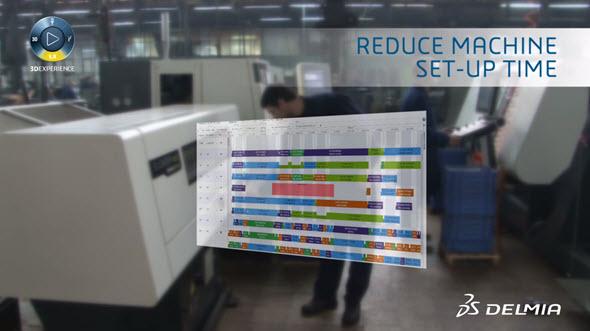 Řešení Agile Manufacturing a PlannerOne jsou využívány při řízení výrobních provozů, ve kterých je propojení mezi plánováním a vlastní fyzickou výrobou podporováno vysoce synchronizovaným výrobním IT systémem. Obr: Dassault Systèmes