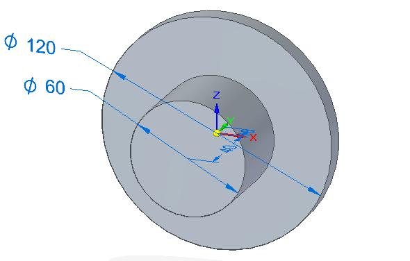 Příkazem Chytrá kóta ze záložky Domů → Kóta definujte průměry obou kružnic