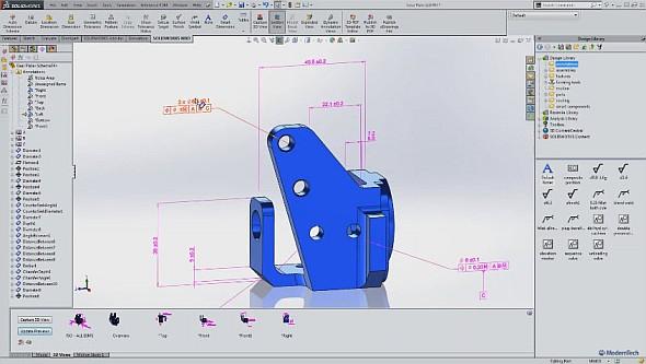 SolidWorks MBD obsahuje nástroje pro tvorbu bezvýkresové dokumentace. Obrázek: Youtube.com