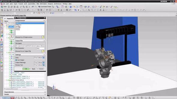 NX CMM Inspection Programming pomůže s programování CMM strojů. Zdroj: Siemens PLM Software