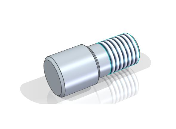 Hotový čep svnějším závitem. Model čepu svnějším závitem M20 – 20 uložte