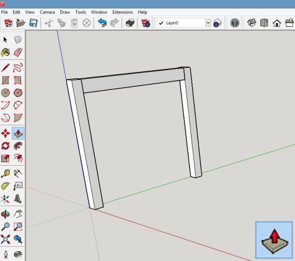 Plochu obdélníku vytáhněte do potřebné vzdálenosti pomocí funkce Tlačit/táhnout (Push/Pull)