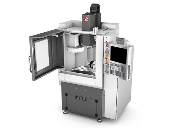 Kompaktní frézka CM-1 je určena pro obrábění malých dílů. Foto: Haas Automation Europe