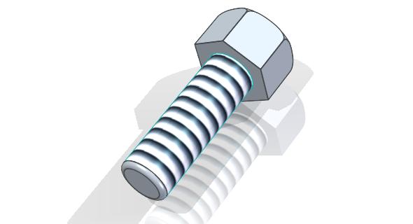 Hotový šroub se šestihrannou hlavou M10 × 30