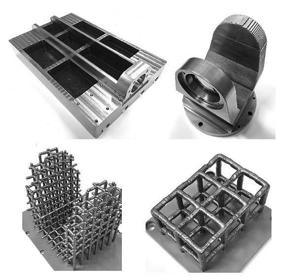 Navařováním lze vyrábět objemové díly i podpůrné konstrukce. Foto: Kovosvit MAS a RCMT