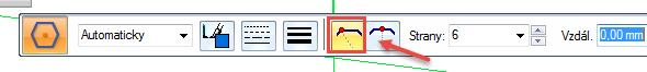 Vplovoucím okně zvolte tlačítko Podle vrcholů. Tímto vyvoláte funkci uchopování za vrcholy