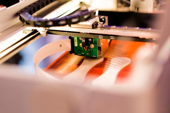 O přestávkách nechyběla ani ukázku 3D tisku…