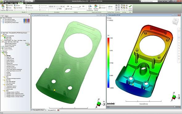 Simulovat plnění formy pro vstřikování plastů lze řešením Simulation Moldflow od Autodesku. Foto: Autodesk