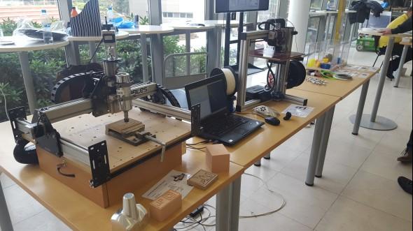 Katedra obrábění, montáže a strojírenské metrologie zajistila ukázky obrábění a 3D tisku (Fakulta strojní)