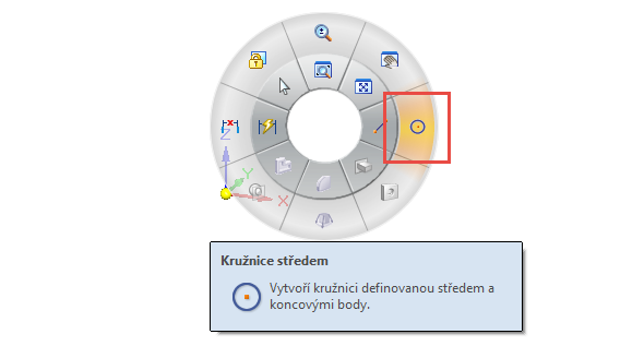 Založte nový dokument iso metric part.par a vyberte příkaz Kružnice středem
