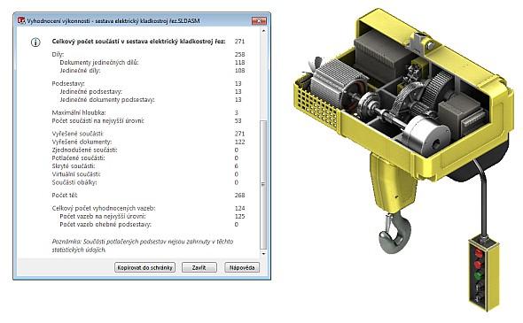 Pro práci s velkými sestavami se v SolidWorksu používají speciální nástroje, které pomáhají s výkonem pracovní stanice