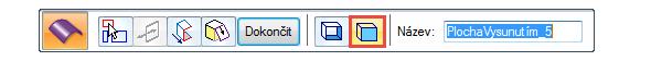 Po potvrzení pravým tlačítkem se objeví další možnost plovoucího okna → označte Vysunutí – uzavřít konce