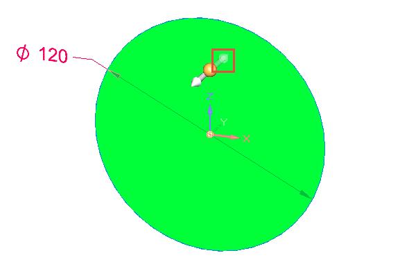 Ze záložky Domů zvolte příkaz Vybrat, klikněte do vytvořené kružnice a poté na šipku směrující ven