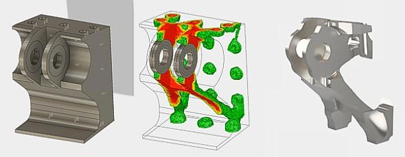 Topologickou optimalizací lze navrhované lehké kovové slitiny súsporou materiálu až o 50 %. Takto upravené modely lze vyrábět 3D tiskem