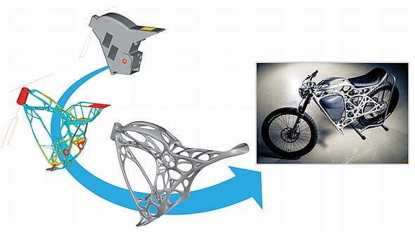 Pro navrhování bionických konstrukcí slouží speciální výpočetní řešení. Foto: Airbus