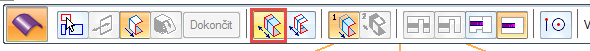 Vplovoucím okně zvolte možnost Vysunutí → Nesymetricky