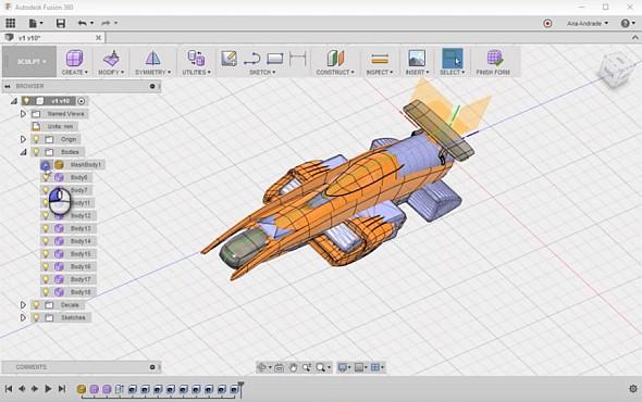 Inovujte závodní vozidlo Formule 1 vřešení Autodesk Fusion 360 a vyhrajte hodnotné ceny. Obrázek: Autodesk