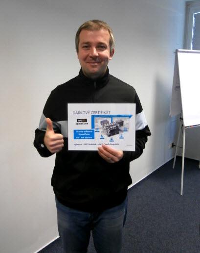 Jiří Chrástek vyhrál jednoroční licenci pro užívání CAD/CAM řešení SpaceClaim
