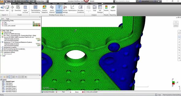 Autodesk Moldflow Insight 2017 slouží mimo jiné pro simulaci vstřikování plastů. Obrázek: Autodesk