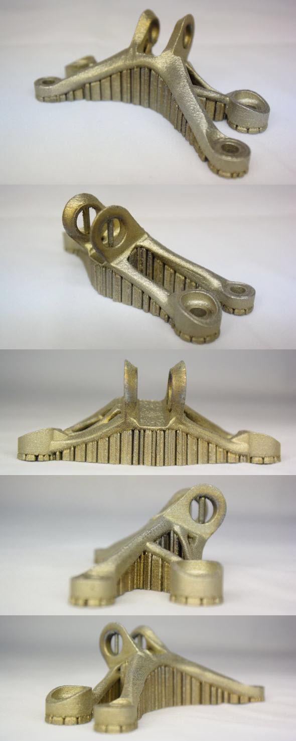 Prototypy vyrobené 3D tiskem kovů zpravidla vyžadují dokončovací operace (odstranění prototypu ze substrátu, odstranění podpor, obrábění, broušení, leštění atd.). Foto: 3d-tisk-kovu.cz