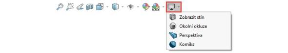 …a taky podle toho, že chybí tlačítko RealView vpanelu Průhledné zobrazení → Nastavení pohledu.