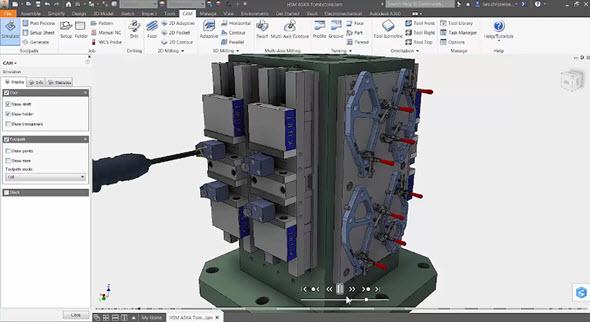 Inventor HSM se změnil na sadu aplikací Autodesk HSM. Ta je dostupná ve verzích Premium a Ultimate. Obrázek: Autodesk