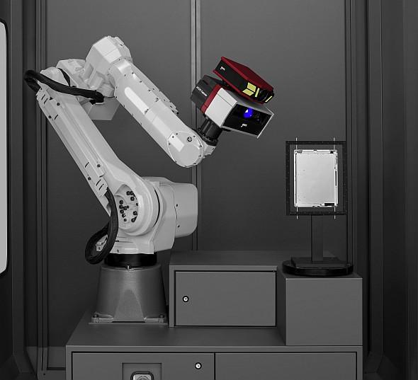 3D skener Atos Capsule je možné použít v optickém 3D měřícím stroji Atos ScanBox pro automatizované měření. Foto: MCAE Systems