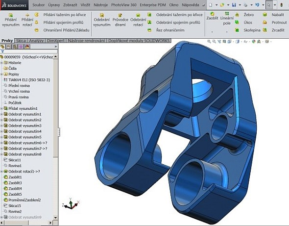 Pro návrh náhrad využívá společnost ProSpon 3D CAD řešení SolidWorks. Obrázek: ProSpon