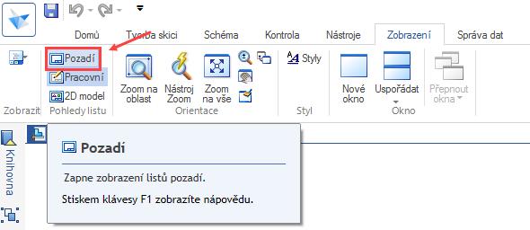 Pro editaci razítka se přepněte do pohledu Pozadí. Ze záložky Zobrazení → Pohledy listu vyberte příkaz Pozadí
