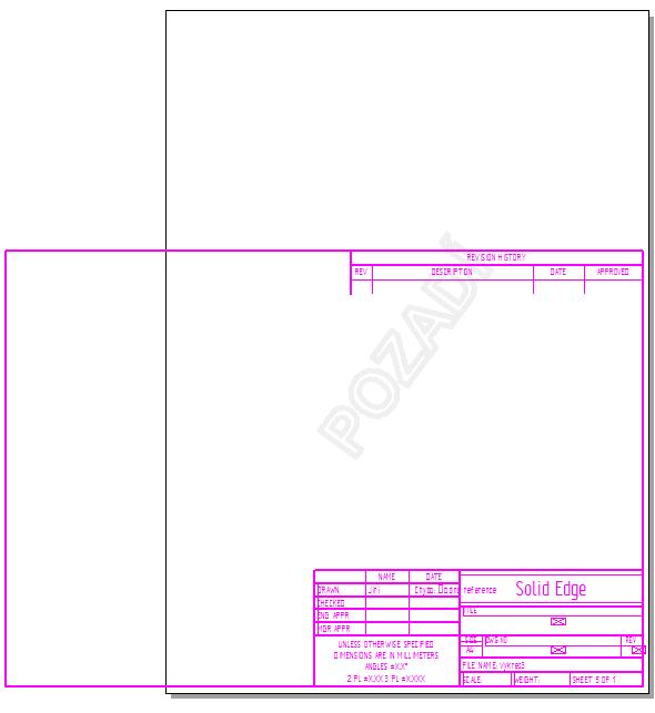 Zkopírované popisové pole vložte stisknutím klávesové zkratky Ctrl + Va levým tlačítkem určete pozici popisového pole