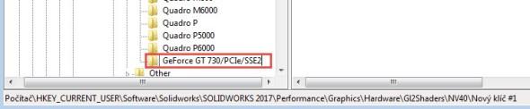 Název složky musí být shodný snázvem grafické karty, proto vložte text ze schránky klávesovou zkratkou Ctrl + V